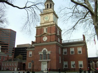 Independence Hall in winter