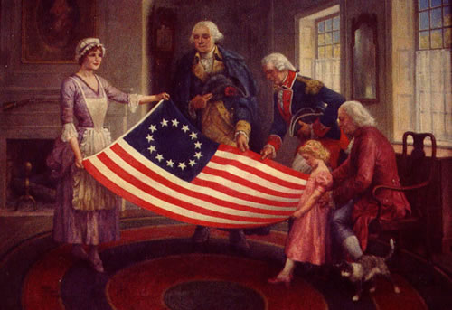 Betsy Ross Presenting the Old Glory, Walter Haskell Hinton, 1950