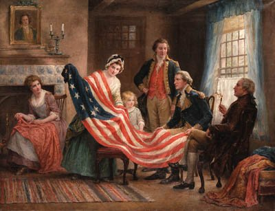 Examining the Flag by Jennie Brownscombe