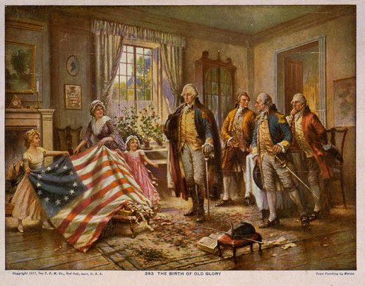 The Birth of Old Glory - Betsy Ross Flag